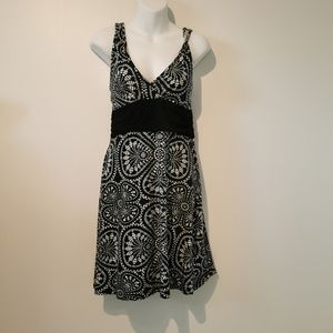 Patagonia medium black and white dress